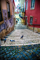 Colorful staircase in Lisbon